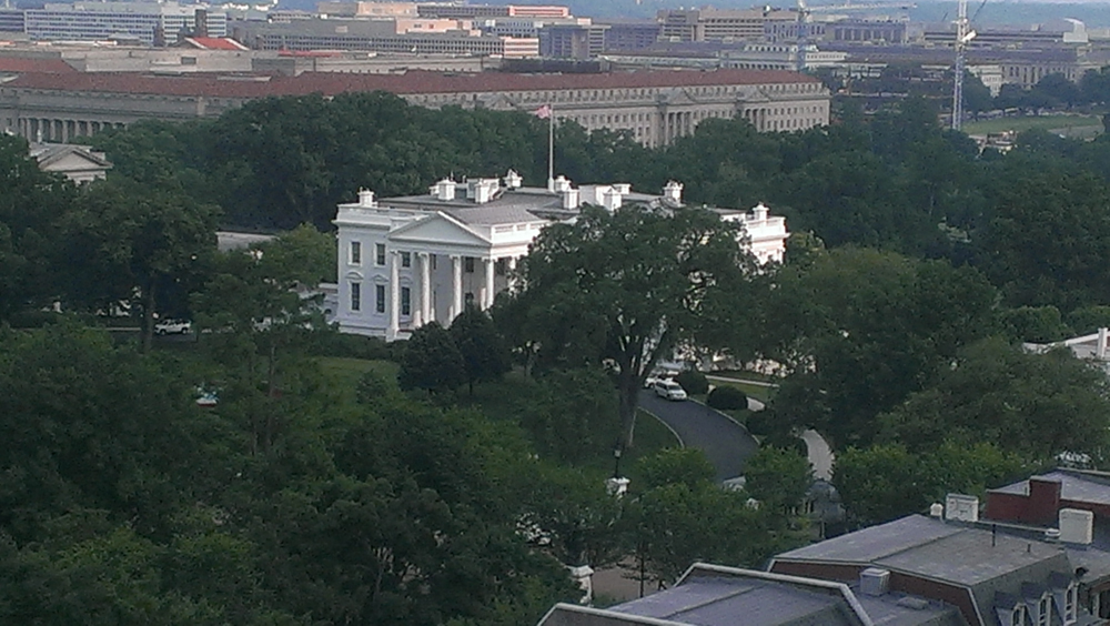 View of the White House from Reception