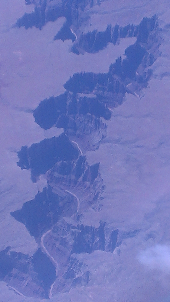 Colorado river from airplane