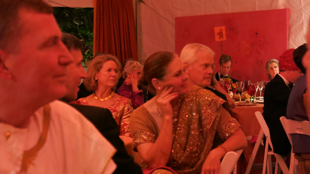 Attentive guests listening to wedding speeches