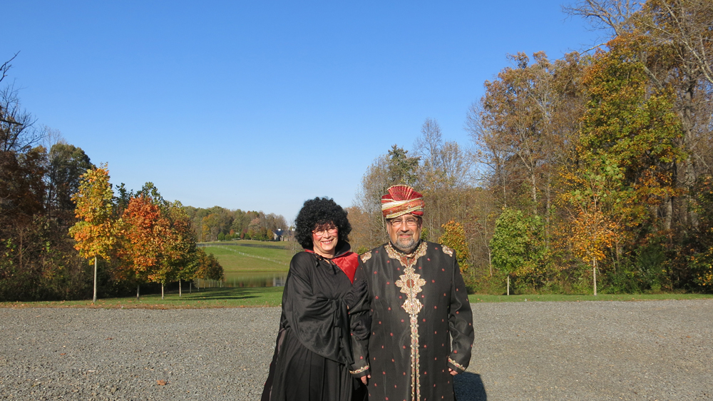 Marlies and Volkhard in costume