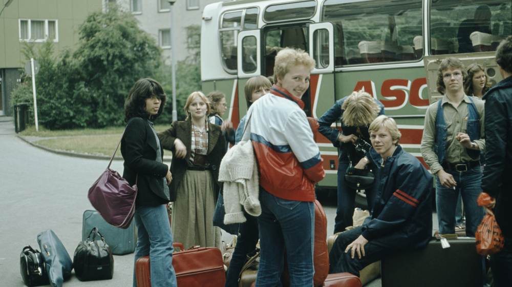 Alan surrounded by German girls in 1978