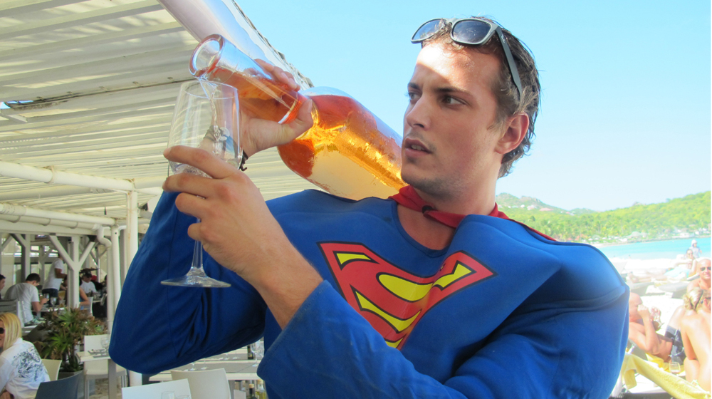 it takes superman to pour this thing
