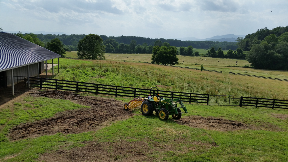 hay all baled before the rain