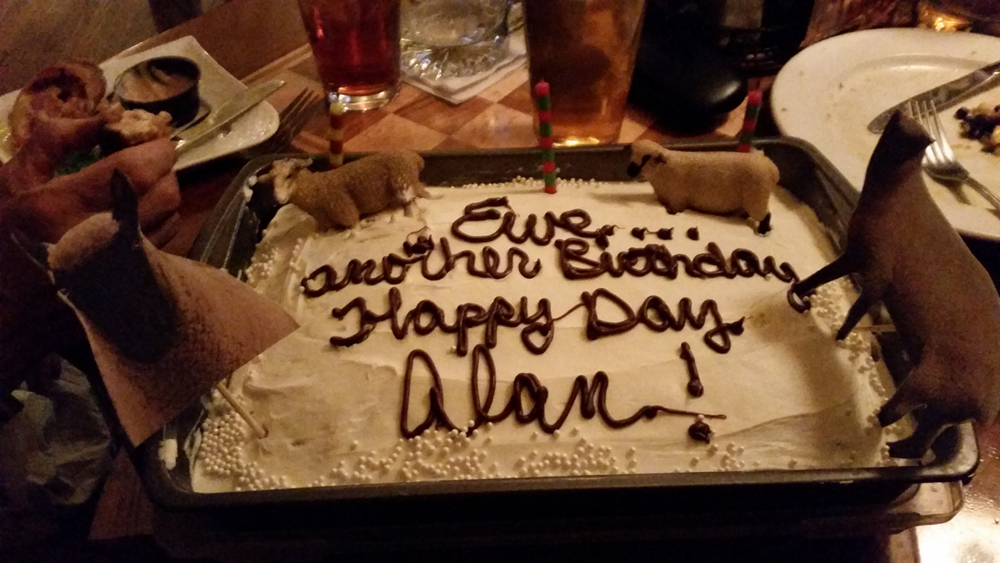 Trivia team and Pub staff surprise me for my bithday