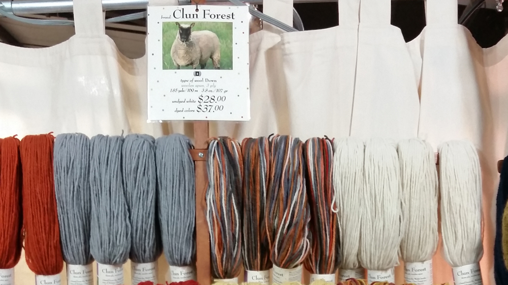yarn from our sheep for sale at wool festival