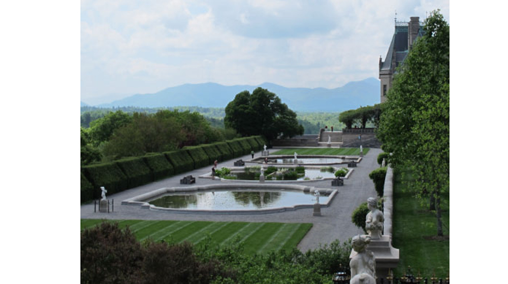 the gardens at the Biltmore