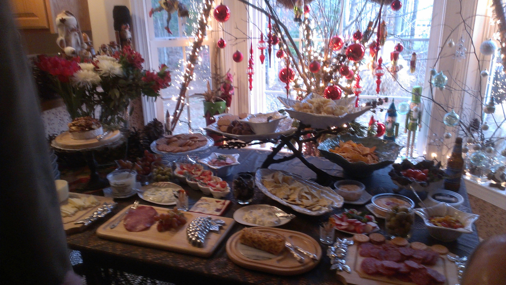 Doris Schmidt's holiday buffet