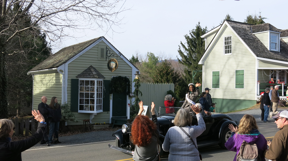 Miss Virginia leads the local Christmas parade