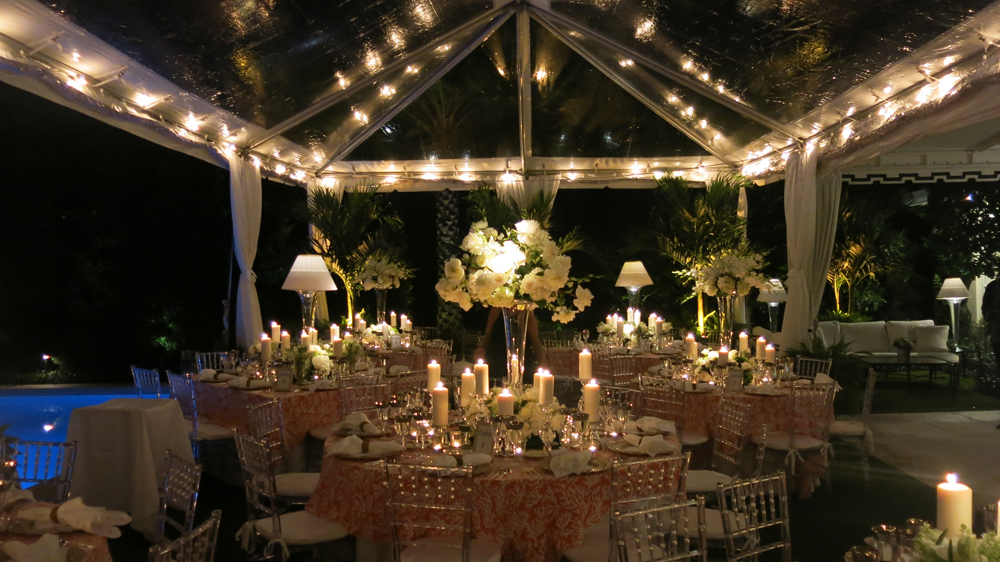 reception tent and tables