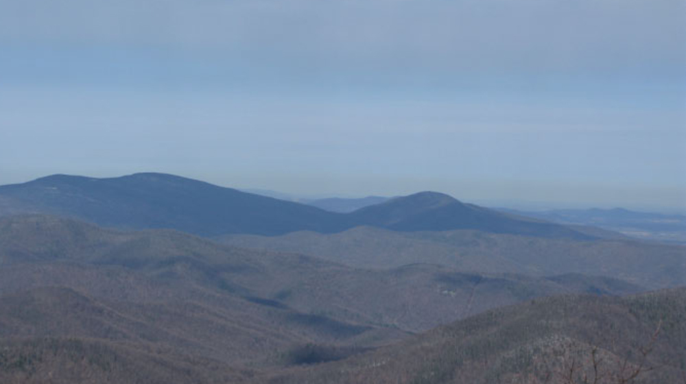 view towards the Blue Ridge
