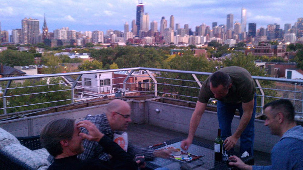 Mark and Will's spectacular roof deck