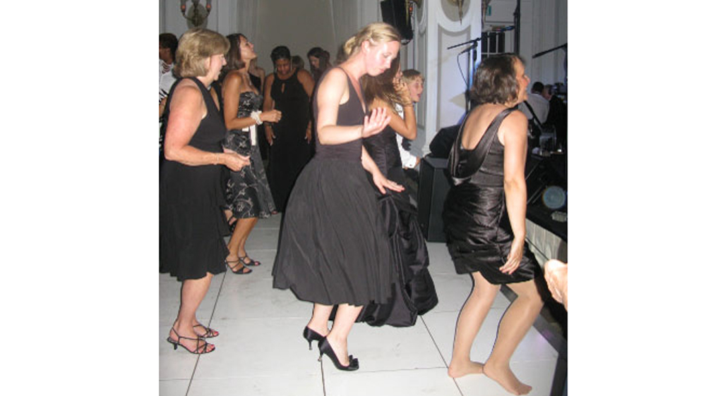 ladies doing a line dance