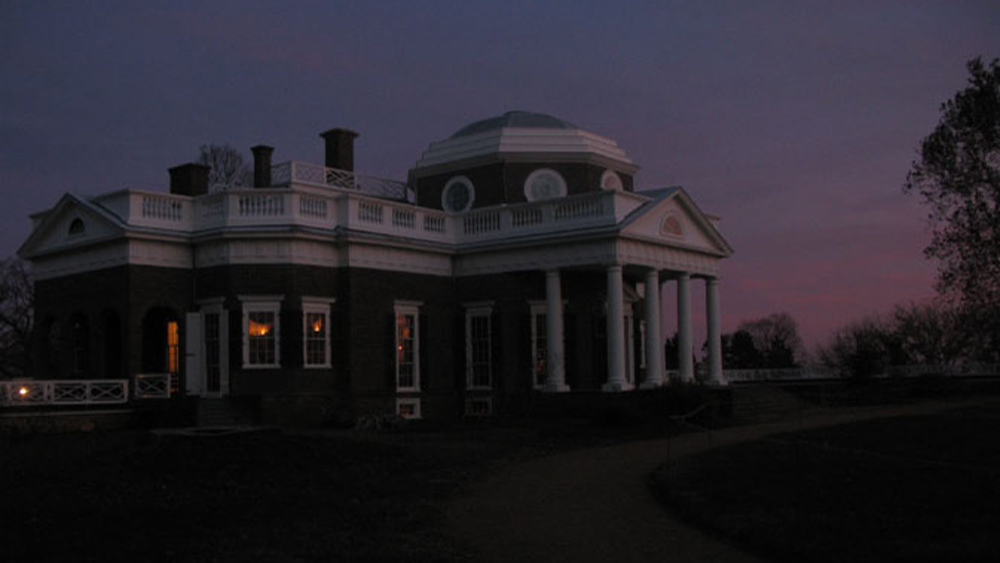 Monticello at dusk