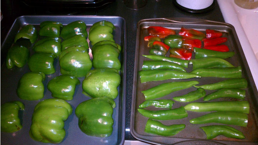 freezing the last of the garden harvest