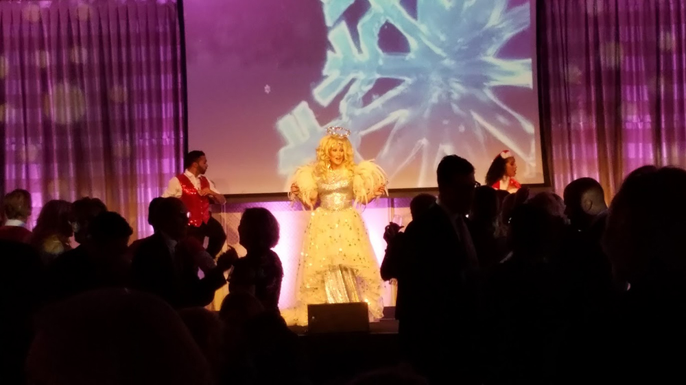 Cher entertains at our office Christmas party