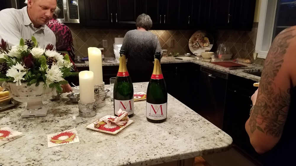 Keith doesn't skimp on the Champagne