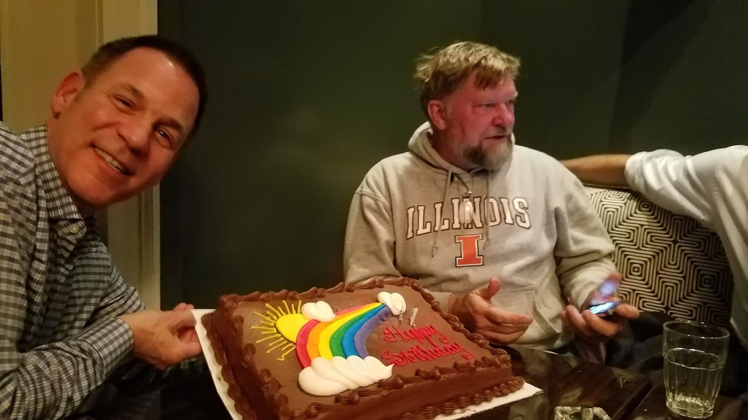 Birthday Boys share a cake