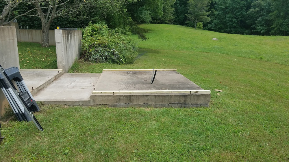 These concrete pads have been waiting 20 years