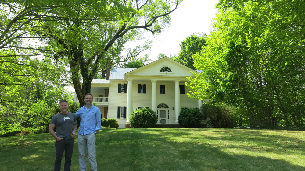 Drew & Bill visiting their dream house