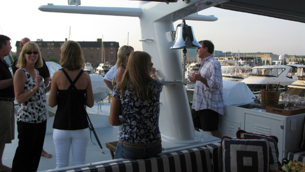 Guests on the aft deck