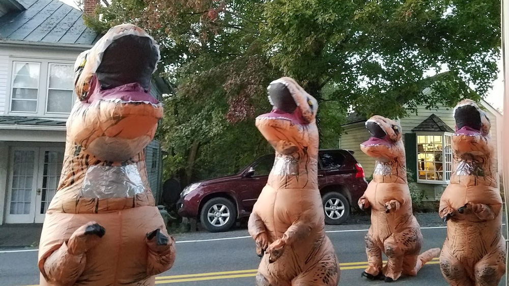 Never deny a T. Rex Halloween candy