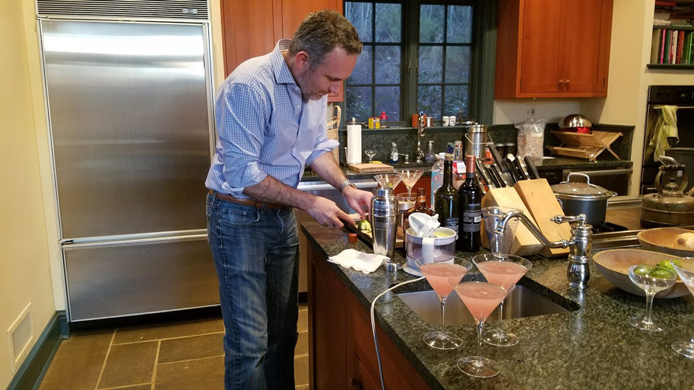 Bill's famous cosmo cocktails