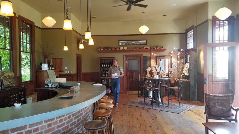 Ken Wright's tasting room - an old train station