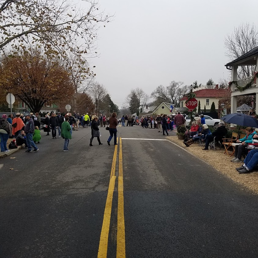 The town awaits the annual Christmas parade