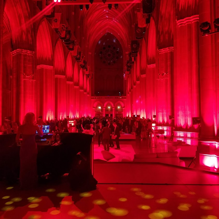 Hard to believe DJ stand in Cathedral